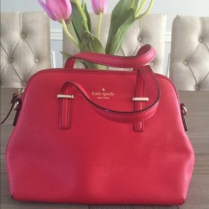 Kate Spade Red Shoulder Bag with Crossbody Strap